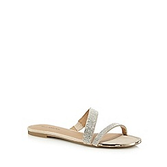 Call It Spring - Beige 'Stava' diamante slip on sandals