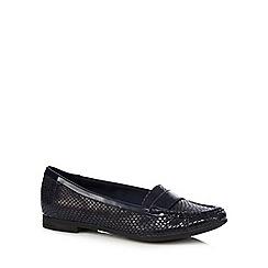 Clarks - Navy 'Atomic Lady' flat shoes