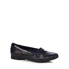 Clarks - Black snakesin effect 'Atomic Lady' loafers