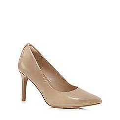 Clarks - Beige 'Dinah Keer' leather high court shoes