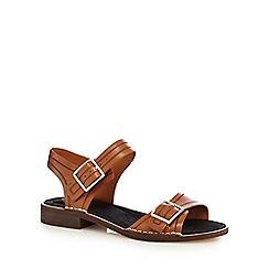 Clarks - Tan 'Cabaret Glitz' two part sandals