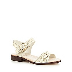 Clarks - Off white 'Cabaret Glitz' two part sandals