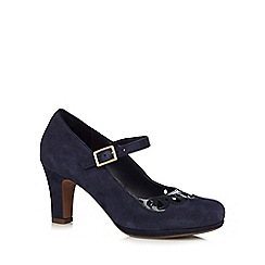 Clarks - Navy 'Chorus Music' court shoes