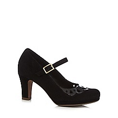 Clarks - Black 'Chorus Music' court shoes