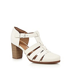 Clarks - White 'Ciera Gull' high sandals