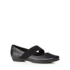 Clarks - Black 'Discovery Ritz' flat shoes