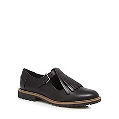 Clarks - Black leather 'Griffin Mia' T-bar shoes