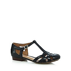 Clarks - Black 'Henderson Luck' cut-out sandals