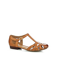 Clarks - Tan 'Henderson Luck' cut-out sandals
