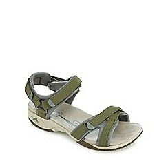 Clarks - Khaki 'Isna Pebble' sandals