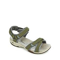 Clarks - Khaki 'Isna Pebble' sandals