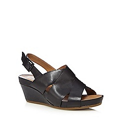 Clarks - Black 'Rusty Rizz' mid wedge heels