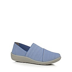 Clarks - Blue 'Sillian Firn' slip on shoes