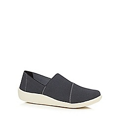 Clarks - Black 'Sillian Firn' slip on shoes
