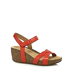 Clarks - Coral 'Temira Compass' high wedge sandals