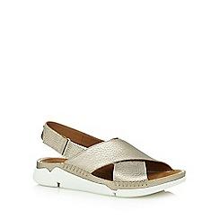 Clarks - Gold 'Tri Alexia' low heel sandals
