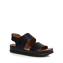 Clarks - Black 'Alderlake Sun' leather sandals