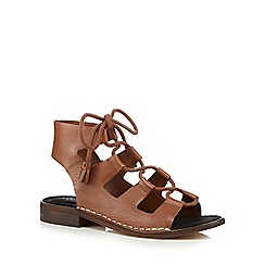 Clarks - Tan 'Cabaret Scene' lace-up sandals