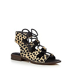 Clarks - Black 'Cabaret Scene' lace-up sandals
