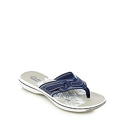 Clarks - Navy 'Brinkley Mila' slip-on sandals