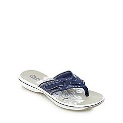 Clarks - Navy 'Brinkley Mila' slip-on sandals