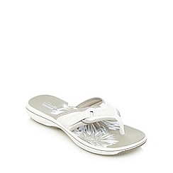 Clarks - White 'Brinkley Mila' slip-on sandals