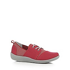 Clarks - Red 'Sillian Joss' comfort fit trainers