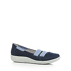 Clarks - Navy 'Sillian Rest' slip-on shoes