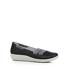 Clarks - Black 'Sillian Rest' slip-on shoes