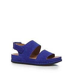Clarks - Blue 'Alderlake Sun' suede sandals