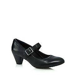 Clarks - Black 'Denny Date' mid heel shoes