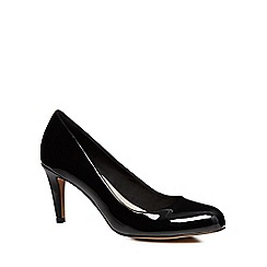 Clarks - Black Patent Carlita Cove Heeled Court Shoe