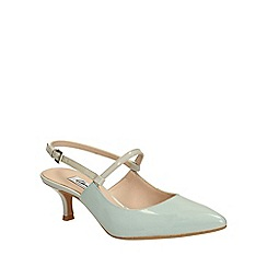 Clarks - Aqua Aquifer Opera kitten heeled shoes