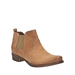 Clarks - Light Tan leather Colindale Ritz Chelsea boot