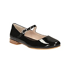 Clarks - Black patent Festival Glory mary jane style pump