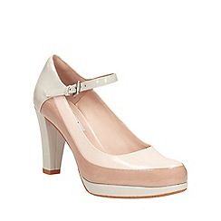 Clarks - Chalk combi Kendra Dime mary jane stye court shoe