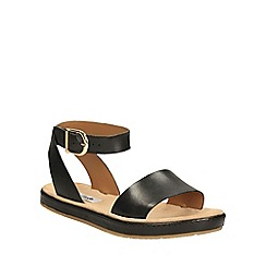 Clarks - Black leather Romantic Moon ankle strap sandal