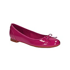 Clarks - Fuchsia patent Couture Bloom ballerina pump
