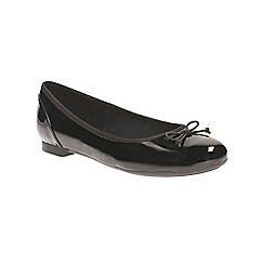 Clarks - Black patent Couture Bloom ballerina pump