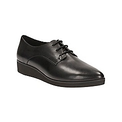 Clarks - Black leather Cressida Grace lace up shoe