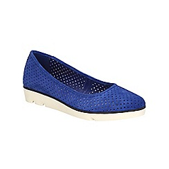 Clarks - Electric blue Evie Buzz elevated ballerina pump