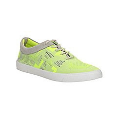 Clarks - Yellow neon Glove Glitter lace up shoe