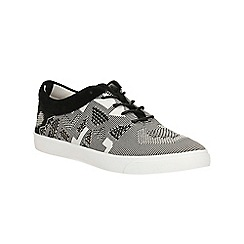 Clarks - Black/White Glove Glitter lace up shoe