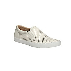 Clarks - White leather Glove Puppet slip on shoe