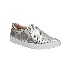 Clarks - Silver leather Glove Puppet slip on shoe