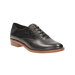 Clarks - Black leather Taylor Beauty lace up shoe