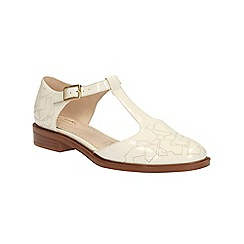 Clarks - Off White Taylor Palm t-bar cut out shoe