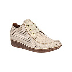 Clarks - White interest Funny Dream lace up shoe