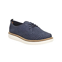 Clarks - Navy nubuck Glick Resseta lace up shoe