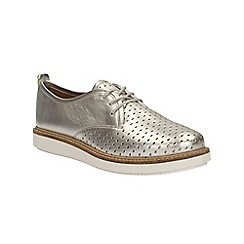 Clarks - Silver leather Glick Resseta lace up shoe